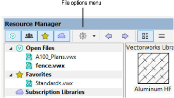 Resource Manager: File Browser Pane