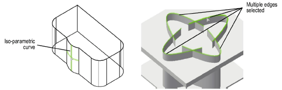 Selecting the Edges and Faces of a Solid